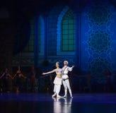 """王子和公主在芭蕾""""One一千和一Nights†以后愉快地居住 免版税库存图片"""