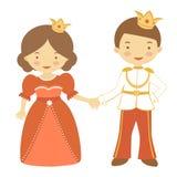 王子和公主 免版税图库摄影