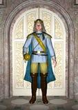 王子在童话宫殿 向量例证