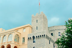 王子摩纳哥的` s宫殿 免版税库存图片