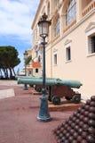 王子摩纳哥防御` s宫殿  免版税库存照片
