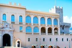 王子` s宫殿的看法在摩纳哥,摩纳哥2017年9月 免版税库存照片