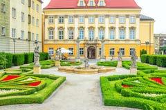 """王宫â€的看法""""历史博物馆在弗罗茨瓦夫 库存图片"""