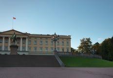 王宫在奥斯陆,挪威。 免版税图库摄影