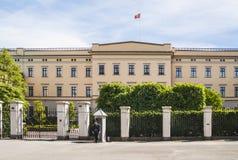 王宫在奥斯陆 库存照片