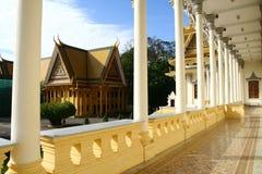 王宫在金边柬埔寨 免版税库存图片