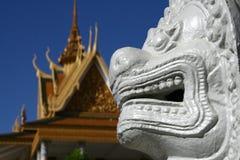 王宫在金边柬埔寨 免版税库存照片