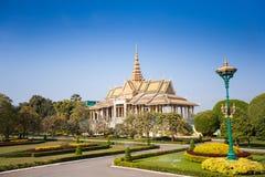 王宫在金边 免版税图库摄影