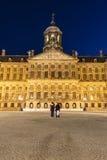 王宫在阿姆斯特丹,荷兰 免版税图库摄影