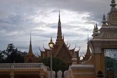 王宫在Pnom Penh 库存图片