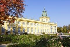 王宫在Warsaw's Wilanow,波兰 库存图片