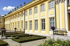 王宫在Wilanow,华沙,波兰 免版税库存图片