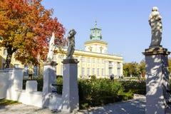 王宫在Wilanow,华沙,波兰 免版税库存照片