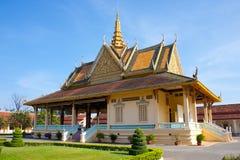 王宫房子在金边 免版税库存照片