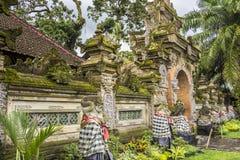 王宫的外部看法,Ubud,巴厘岛,印度尼西亚 免版税库存图片