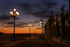 王宫的篱芭在马德里 免版税库存图片