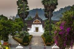 王宫(山楂西康省)在琅勃拉邦,老挝。 图库摄影