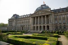 王宫水平的布鲁塞尔- 库存照片