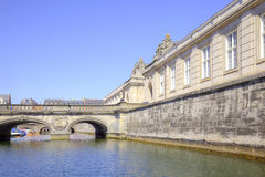 王宫Christiansborg的门面 免版税库存照片