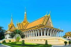 王宫Pnom Penh,柬埔寨 免版税库存图片