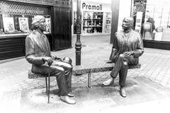 王尔德和Eduard王尔德雕塑  免版税库存照片