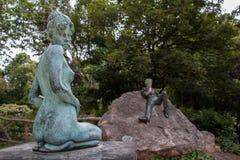 王尔德雕象,都伯林 图库摄影