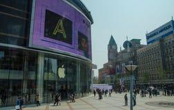 王府井街道,北京 库存图片