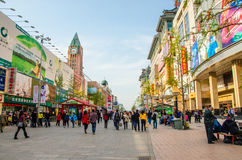 王府井街道,北京 免版税图库摄影