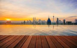 从王权住所吉隆坡,马来西亚的顶端吉隆坡都市风景 图库摄影