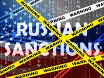 王牌俄罗斯认可在俄罗斯联邦的政治禁运- 3d例证 库存例证