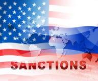 王牌俄罗斯认可在俄罗斯联邦的金钱禁运-第2个例证 向量例证