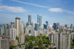 王牌塔在街市温哥华,不列颠哥伦比亚省 库存照片