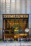王牌塔的门面,唐纳德・川普总统当选人住所-纽约,美国 图库摄影