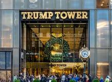 王牌塔的门面,唐纳德・川普总统当选人住所-纽约,美国 免版税库存图片