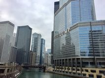 王牌塔街市芝加哥 库存照片