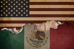 王牌墙壁墨西哥美国边界 免版税图库摄影