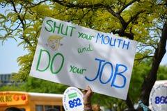 王牌抗议 免版税图库摄影
