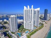 王牌耸立晴朗的小岛海滩佛罗里达 库存照片