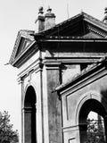 玛丹娜二圣卢卡,小山的古色古香的教会的圣所 免版税库存图片
