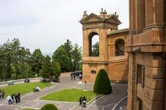 玛丹娜二圣卢卡,波隆纳,意大利的圣所 库存图片