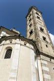 玛丹娜二蒂拉诺& x28; Sondrio& x29; 历史的圣所 库存照片