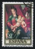 玛丹娜和孩子莫拉莱斯 免版税库存照片