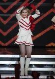 玛丹娜在音乐会执行 免版税库存照片