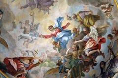 玛丹娜天使壁画 免版税库存图片