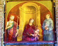玛丹娜赦免玛丽耶稣绘画万神殿罗马意大利 免版税库存图片
