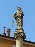 玛丹娜del Carmine,广场圣马蒂诺,波隆纳 免版税库存照片
