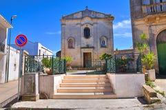 玛丹娜della帕尔马的教堂。帕尔马里吉。普利亚。意大利。 免版税库存图片