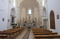 玛丹娜della帕尔马的教堂。帕尔马里吉。普利亚。意大利。 库存照片