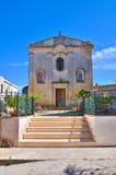 玛丹娜della帕尔马的教堂。帕尔马里吉。普利亚。意大利。 免版税图库摄影