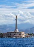 玛丹娜della Lettera,西西里岛,意大利 免版税库存照片